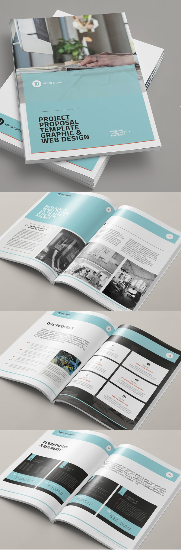 18 professional and creative brochure templates design blog for Professional brochure design templates
