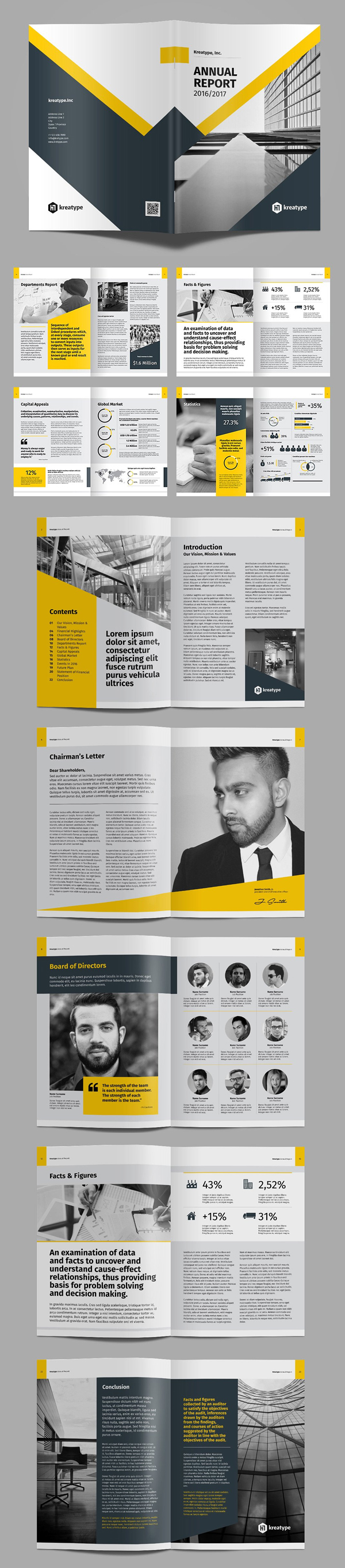 Creative Annual Report 2017 Brochure Template