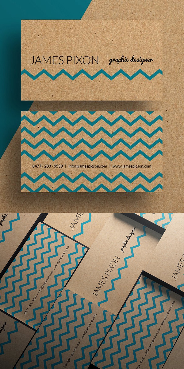 Cardboard Paper Business Card Template