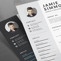 Post Thumbnail of 21 Fresh Free Resume Templates with Cover Letter