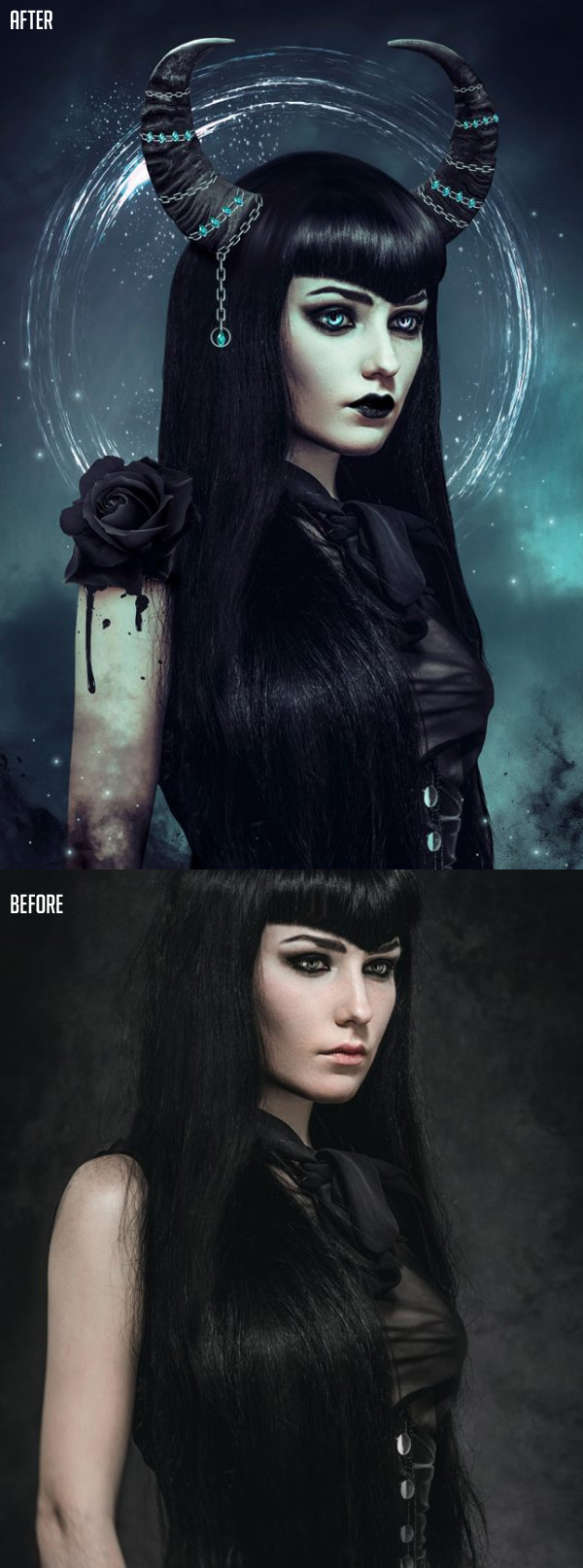 How to Create a Dark Photo Manipulation in Photoshop Tutorial