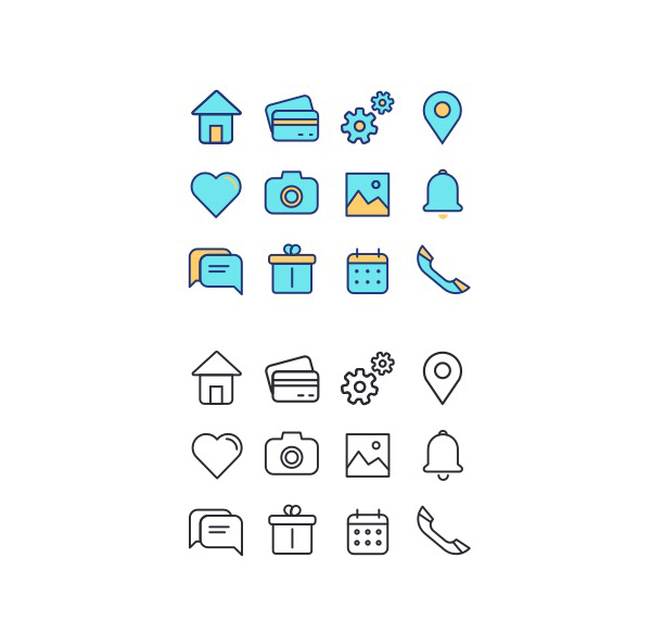 Free Colorful Icons Set