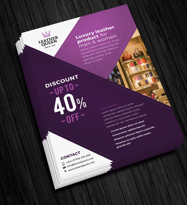 Free Stacked A4 Poster Mockup PSD Template