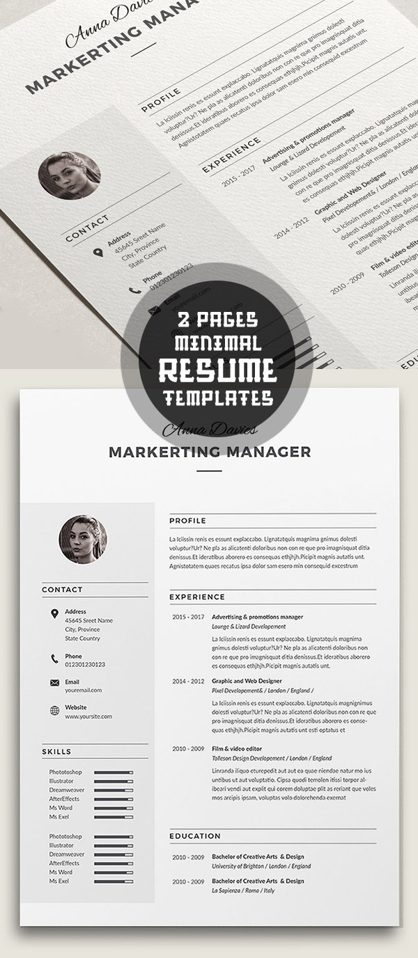 best minimal resume templates design graphic design junction 50 best minimal resume templates 2