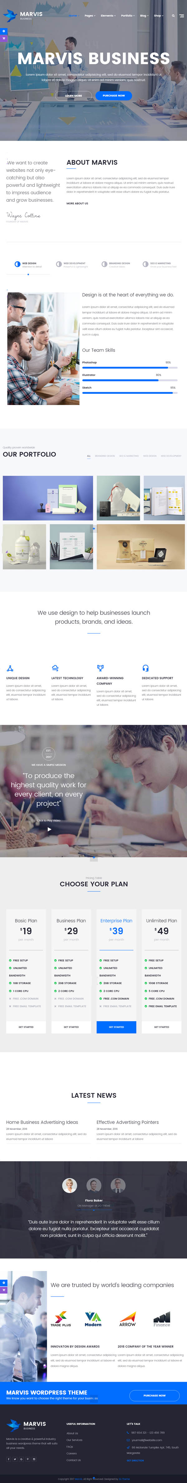 Marvis : Business Multi-Purpose WordPress Theme