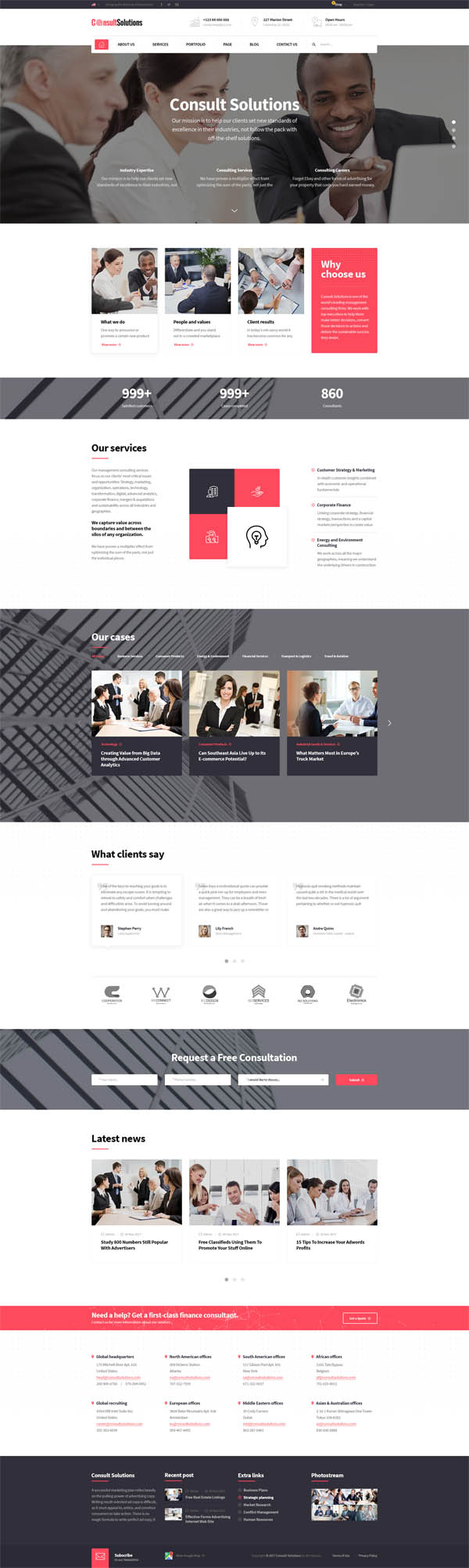Consult Solution : Business, Finance & Corporate WordPress Theme