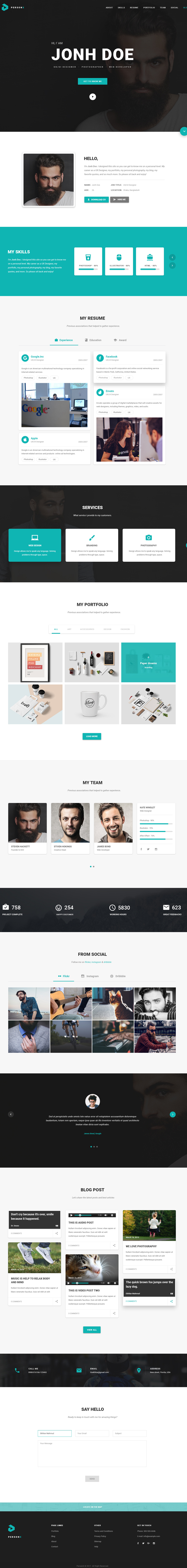 PersonX - Material Design Personal Theme