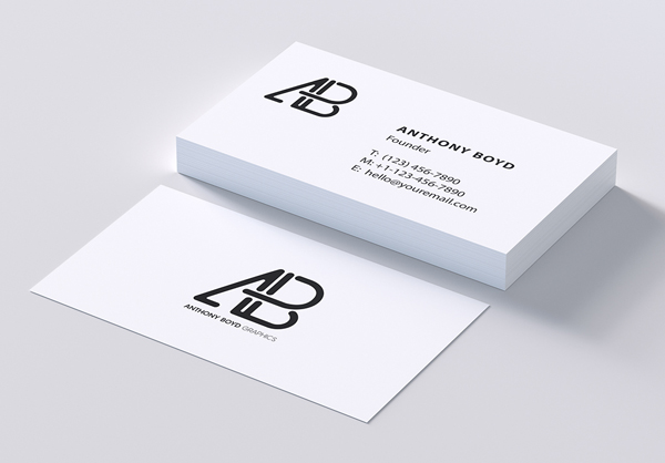 Free Modern Business Card PSD Template and Mockup