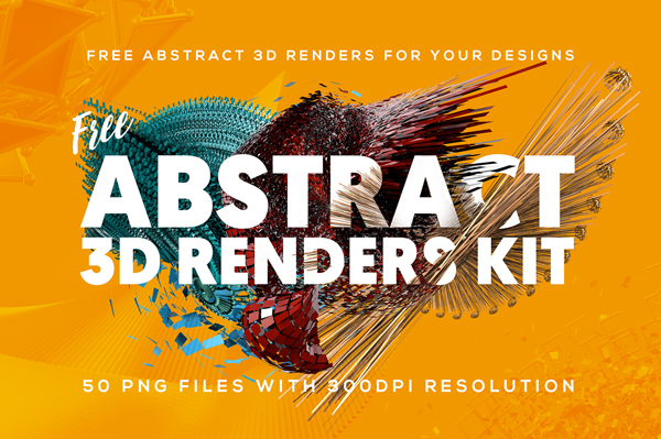 50 FREE Abstract 3D Shapes for download