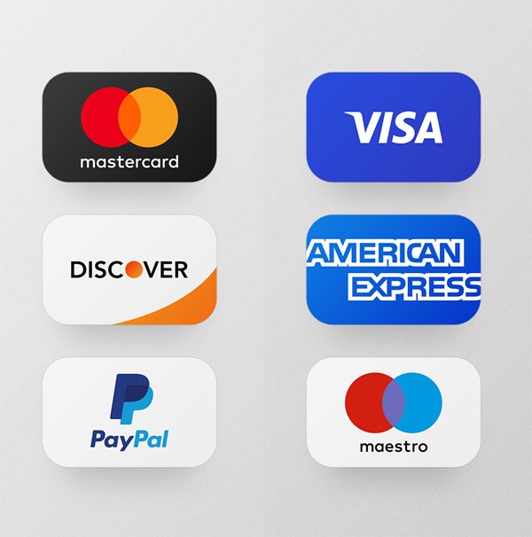 Free Credit Card Payments PSD Icons