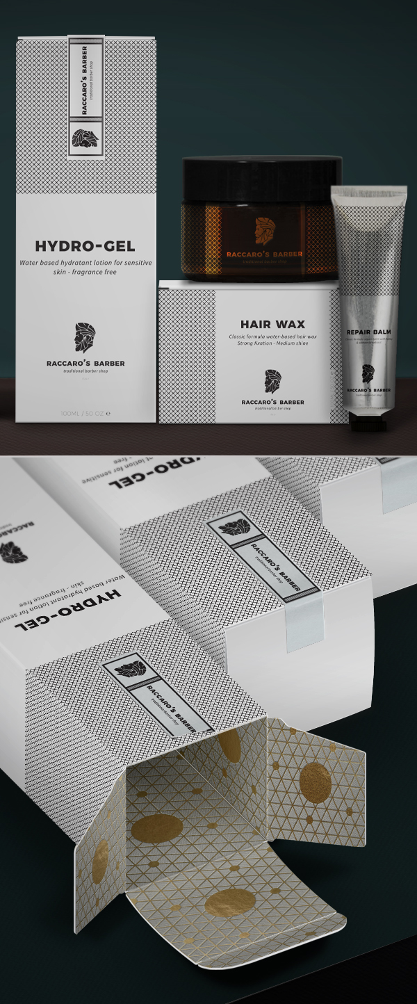 Branding: Raccaro's Barber - Packaging Design