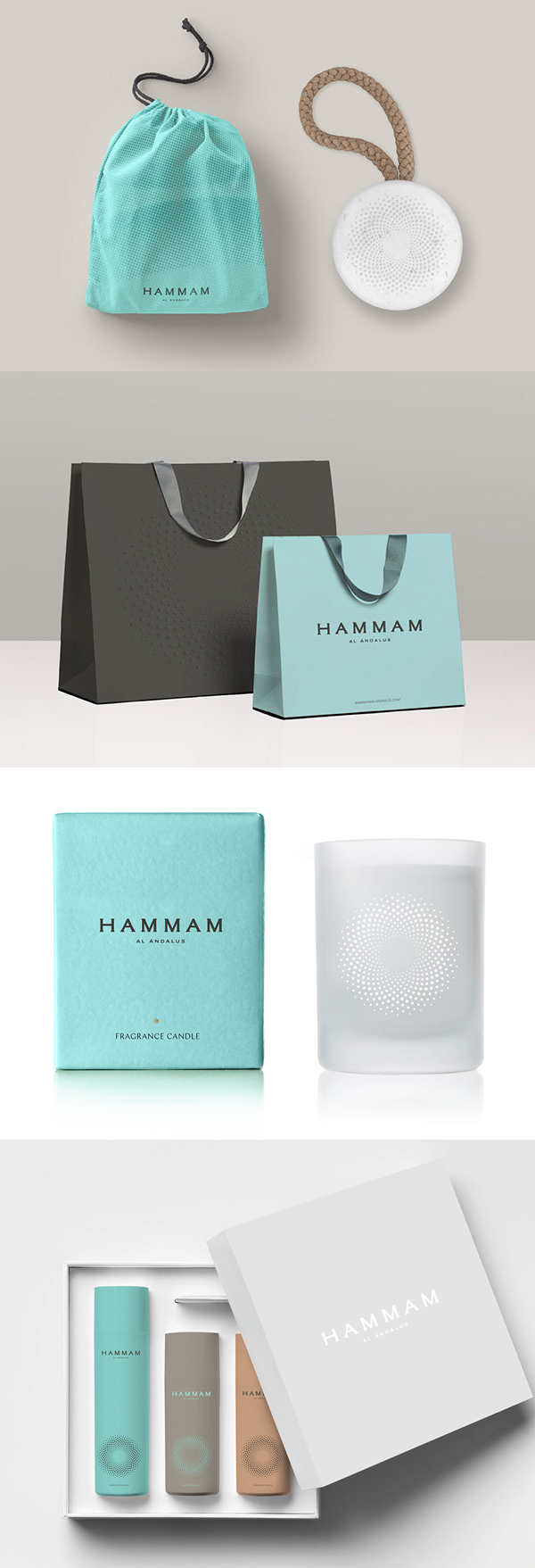 Branding: HAMMAM AL ÁNDALUS - Packaging Design