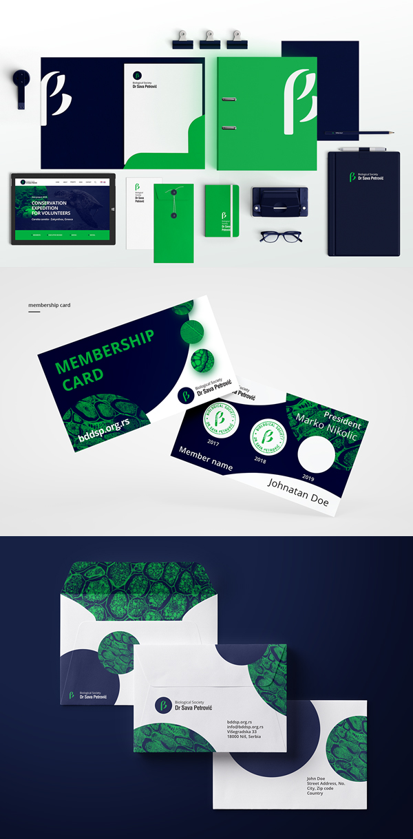 Branding: Biolosko Drustvo - Stationary Items
