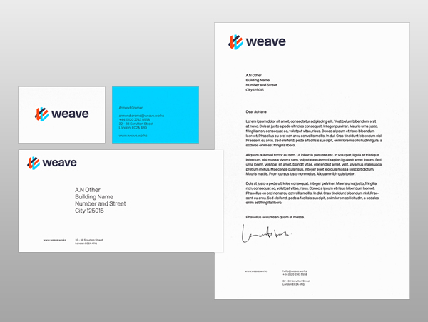 Branding: Weaveworks - Stationary Items