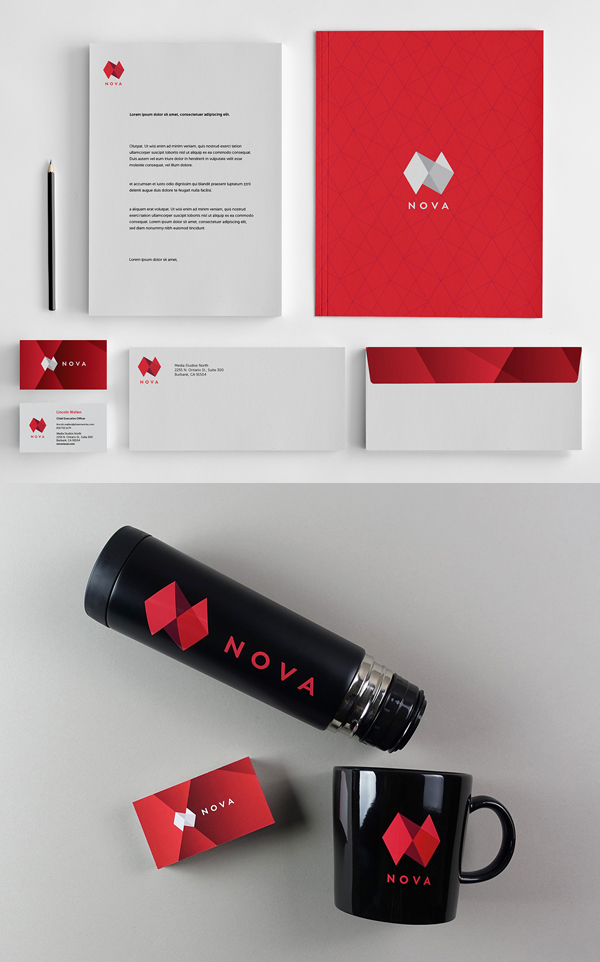 Branding: NOVA - Stationary Items