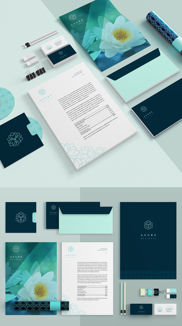 Branding: Azure - Stationary Items