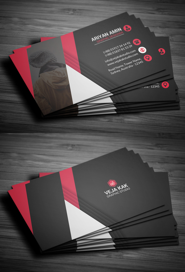27 New Professional Business Card PSD Templates : Design ...