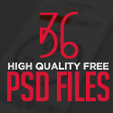 36 New Free Photoshop PSD File
