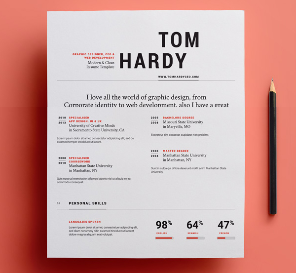 23 Free Creative Resume Templates With Cover Letter | Freebies |
