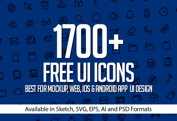 1700+ Free Icons for Web, iOS and Android UI Design