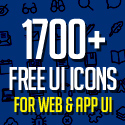 Post Thumbnail of 1700+ Free Icons for Web, iOS and Android UI Design