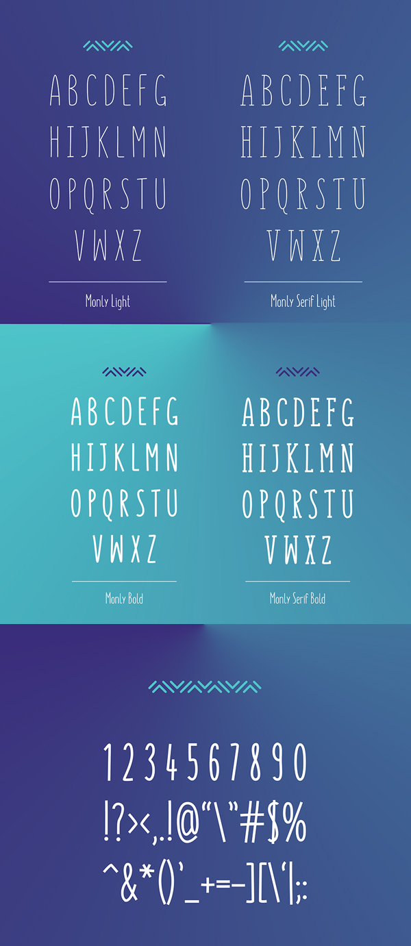 Monly Font Letters