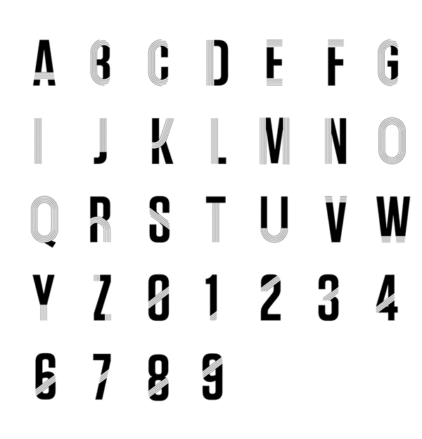 Track Font Letters