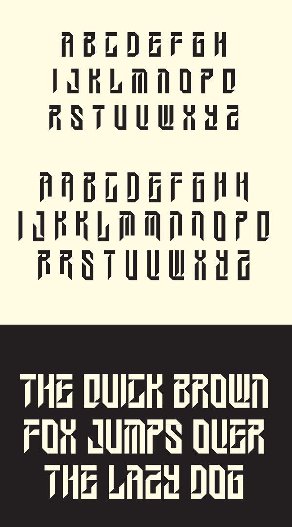 Wesley Gothic Font Letters
