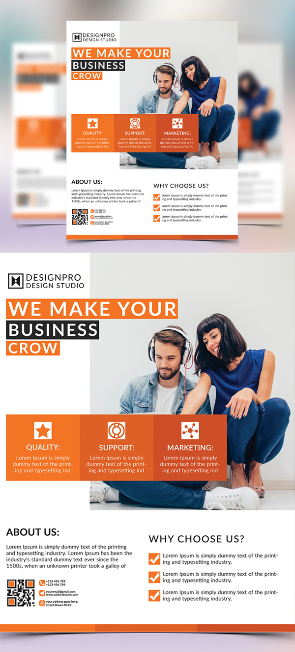 Corporate Business Brand Flyer Template