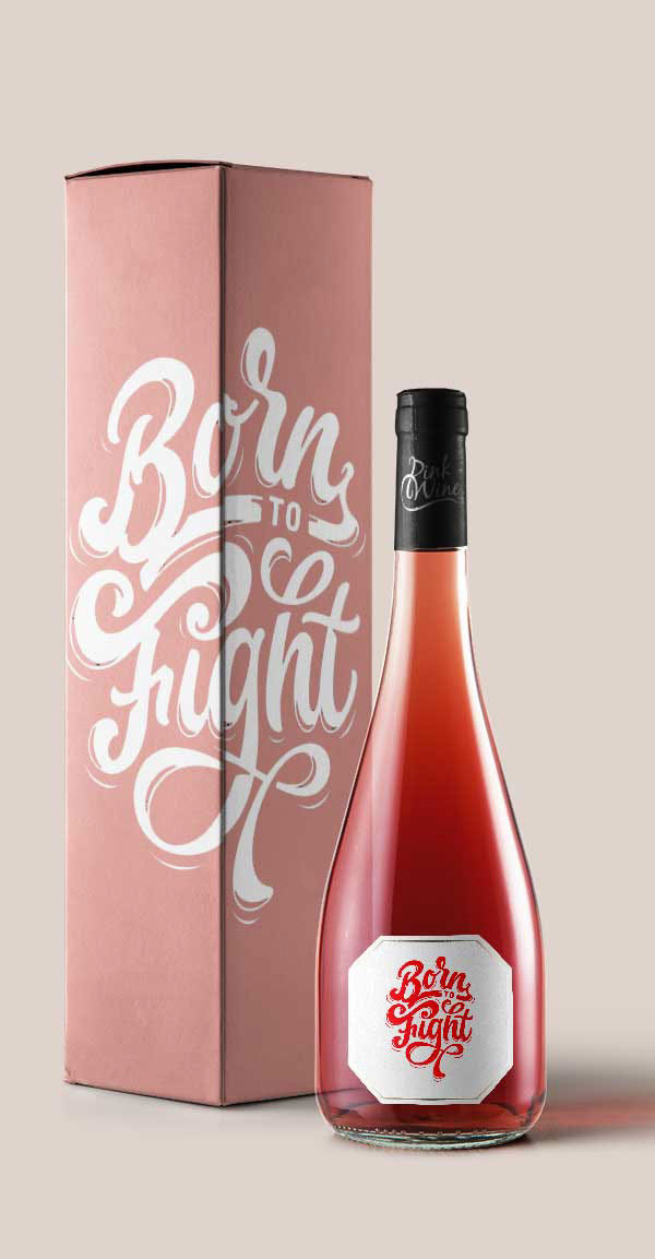Free Burgundy Pink Bottle Mockups
