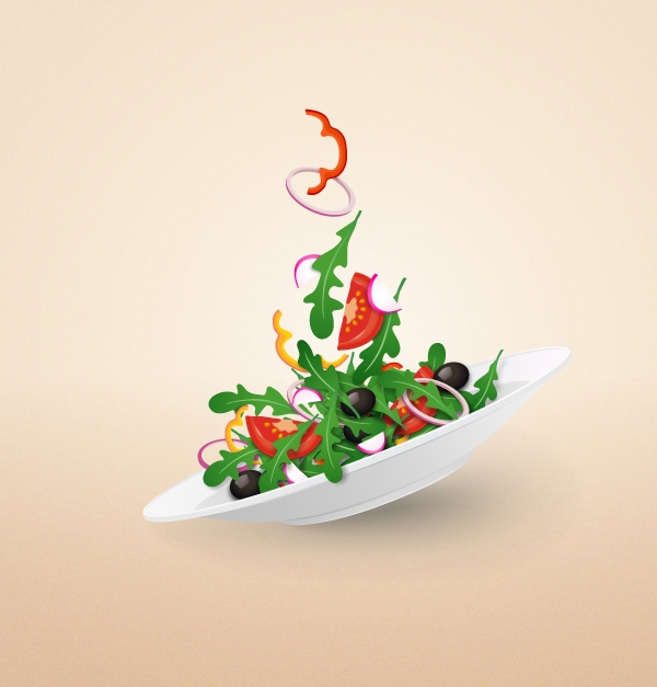 How to Create a Colorful Salad Plate in Adobe Illustrator