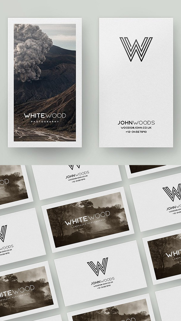 Minimal Card Mockups and Template