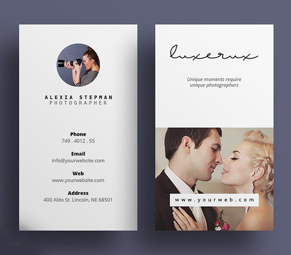 Unique Photography Business Card Design