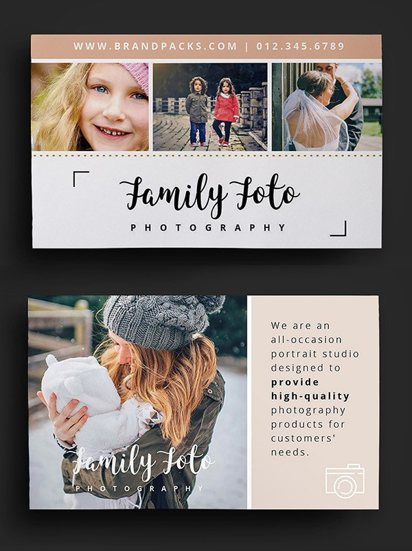 Family Photographer Business Card