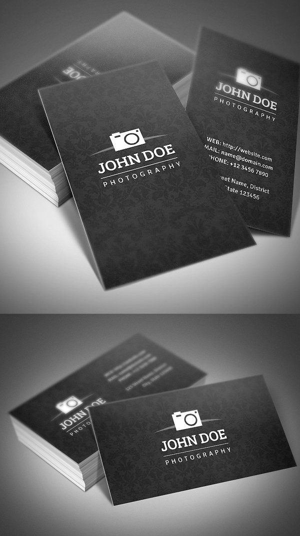 creative photography business cards