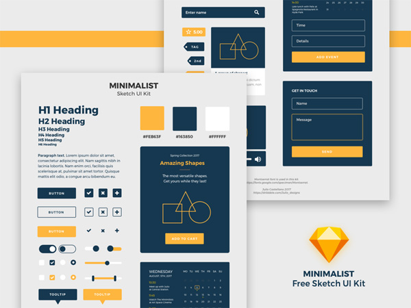Sketch UI Kit - Free Download