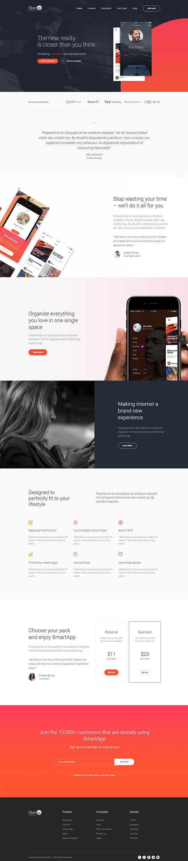 Startup Company - WordPress Theme for Business & Technology