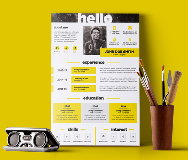 50 Free Resume Templates: Best Of 2018 -  35