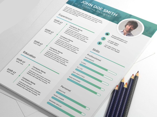 Elegant And Modern CV Resume PSD Template  Cv Resume