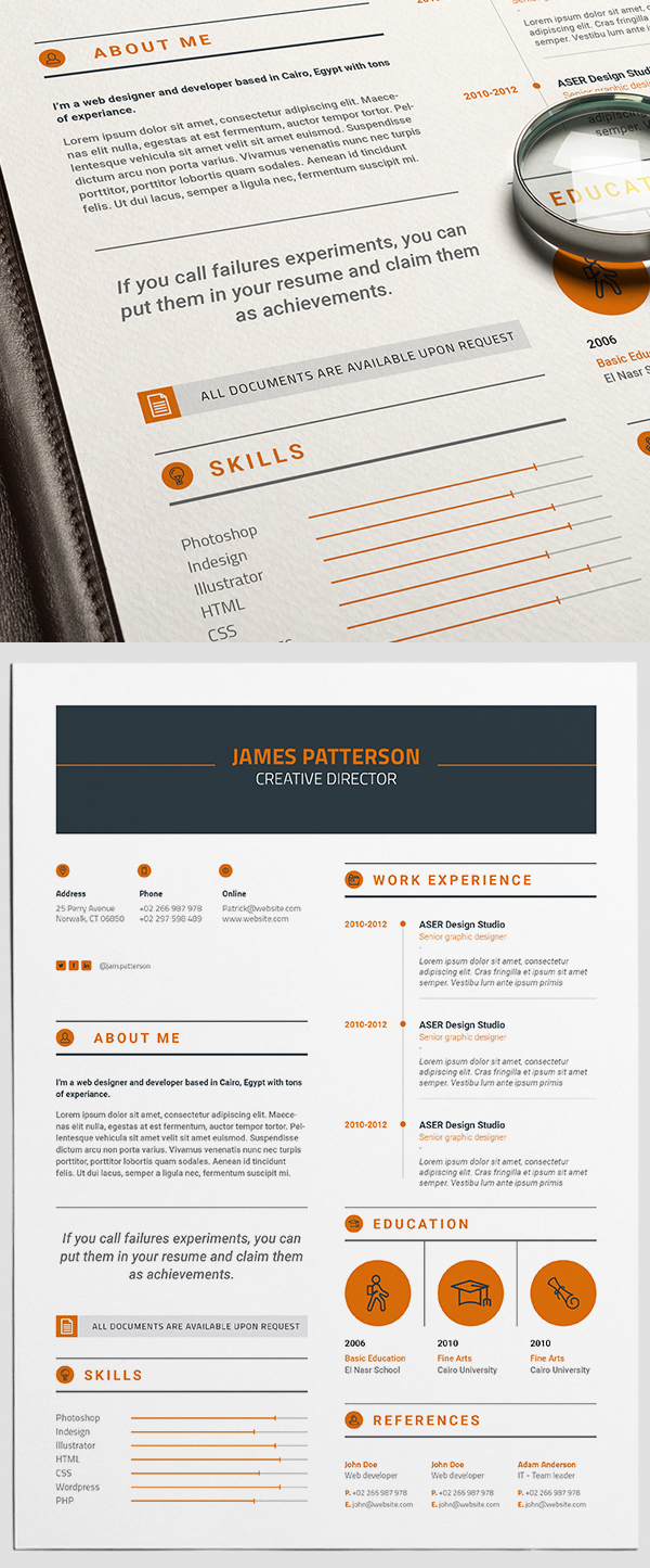 50 Free Resume Templates: Best Of 2018 -  37