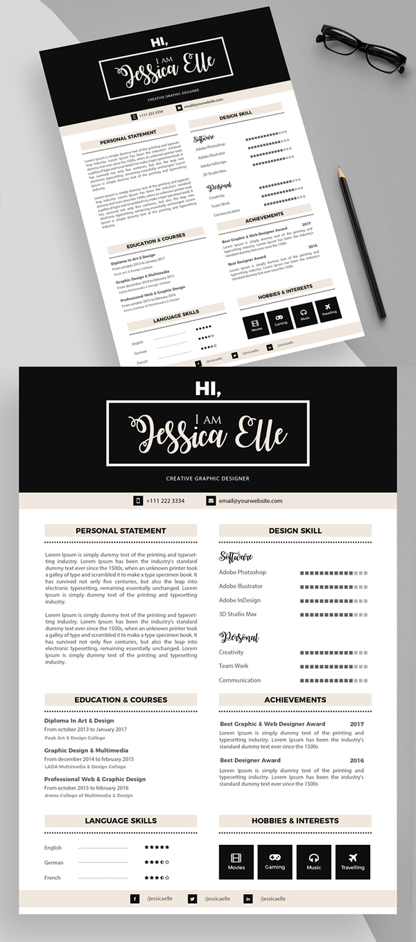 fresh free professional cv    resume templates