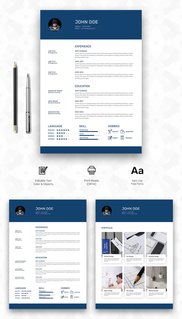 Fresh Free Professional Cv  Resume Templates  Mixed Sign