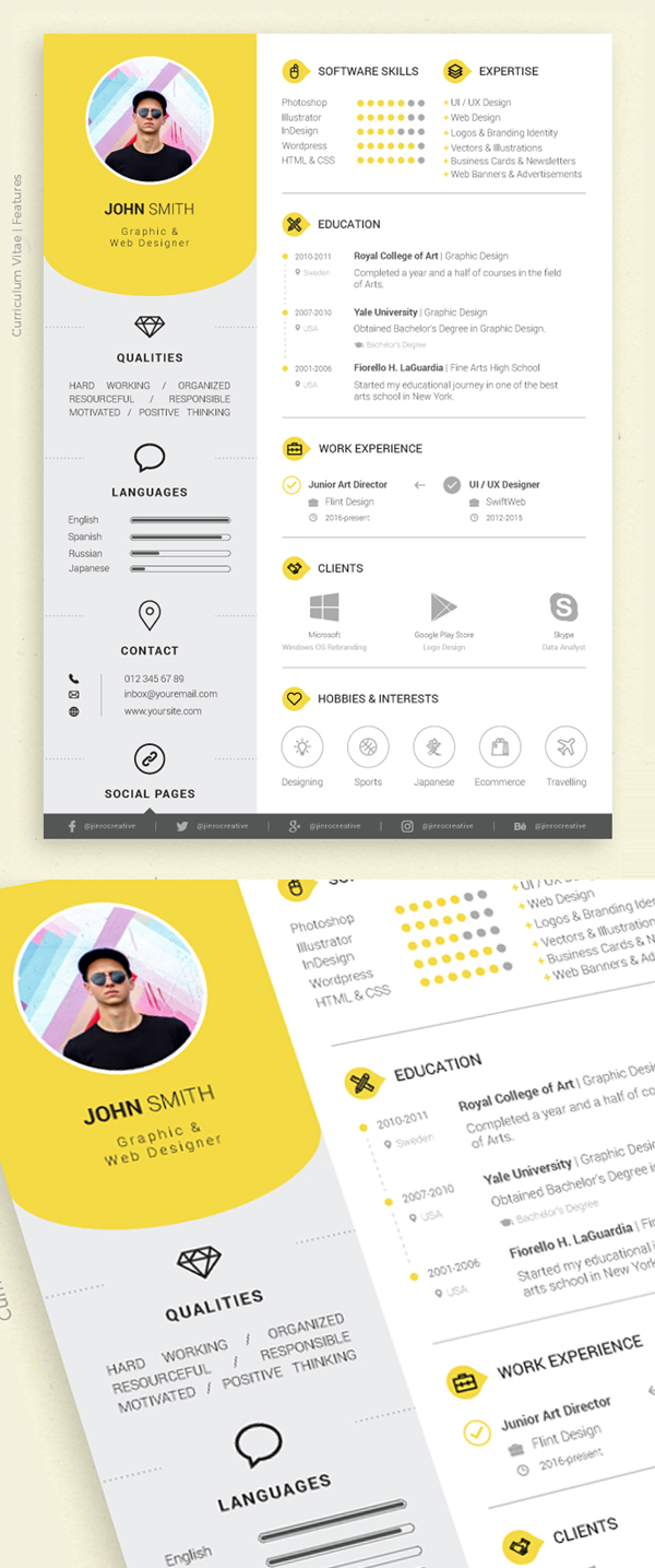 50 Free Resume Templates: Best Of 2018 -  33