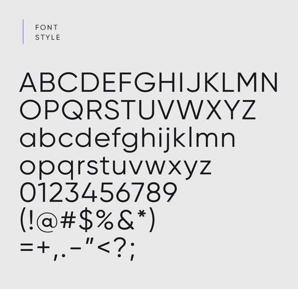 Gilroy Free Font  Letters
