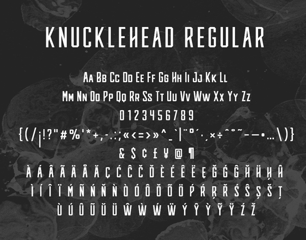 Knucklehead Font Letters