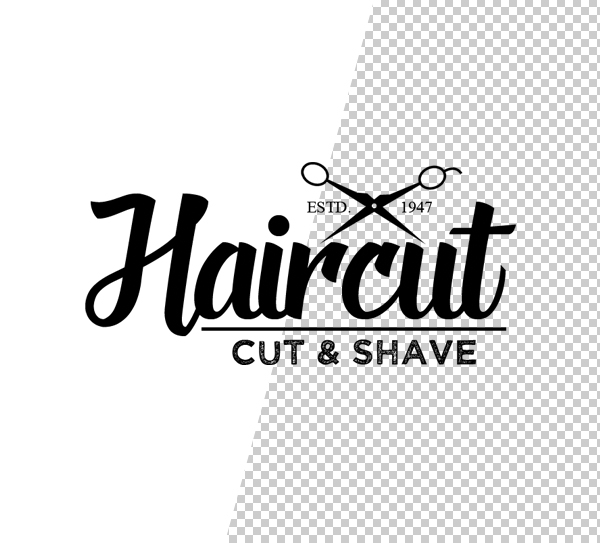 Stylish Barber Shop PSD Logos