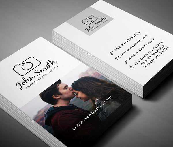 26 Modern Free Business Cards PSD Templates - 1