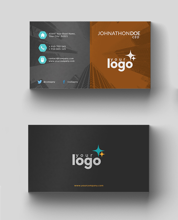 26 Modern Free Business Cards PSD Templates - 18