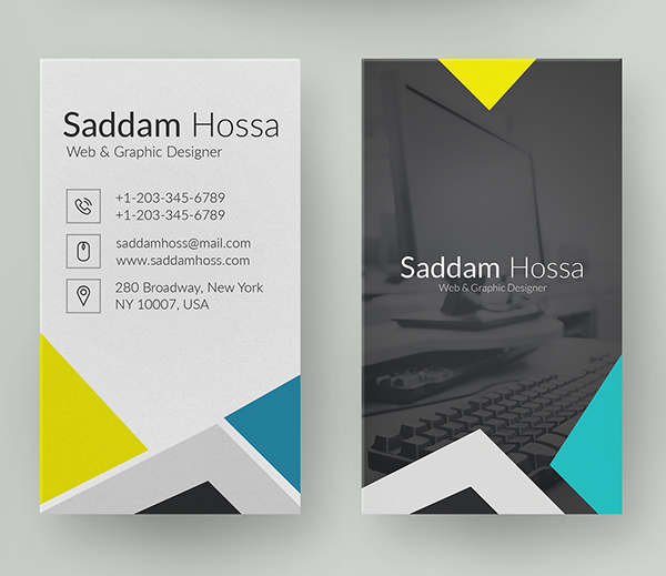26 Modern Free Business Cards PSD Templates - 21