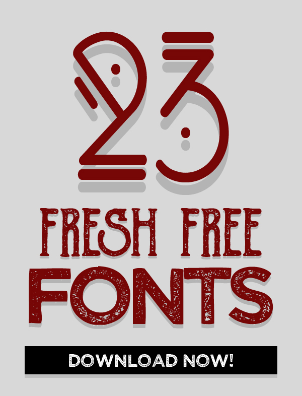 23 Fresh Free Fonts for Graphic Designers